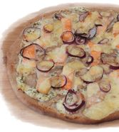 Lachs - Pizza