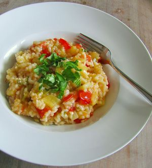 Urmelis schnelles Paprika-Tomaten-Risotto mit Aceto Balsamico