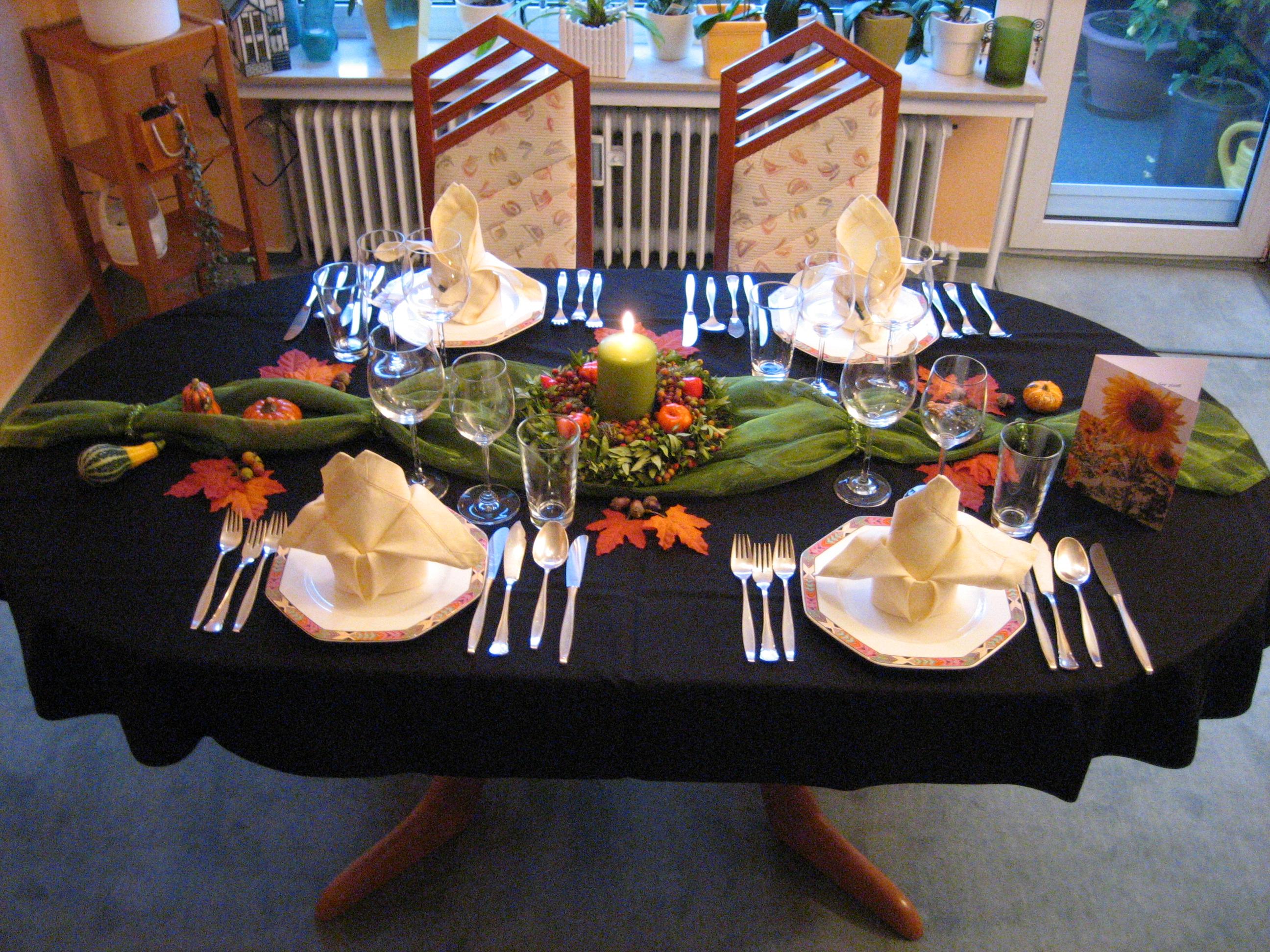 Dekoration Fur Herbstessen Gesucht Feste Tischdekoration Und