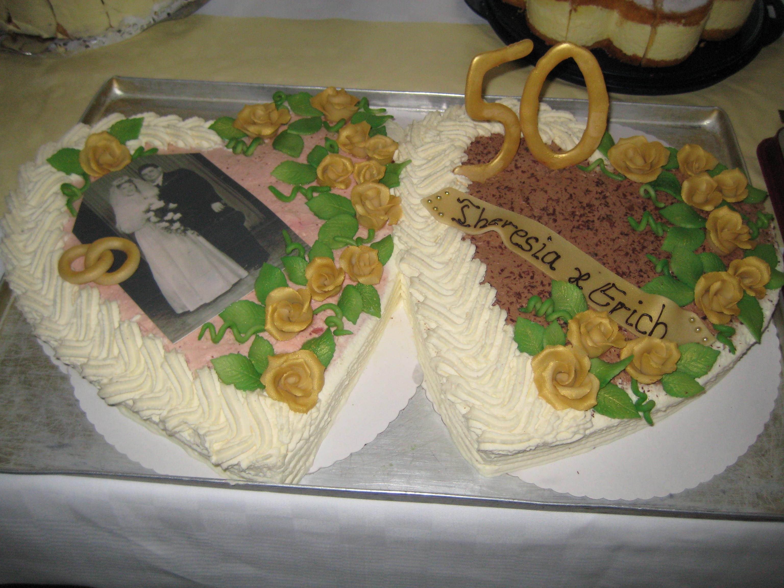 Torte Zur Goldenen Hochzeit Für Meine Großeltern