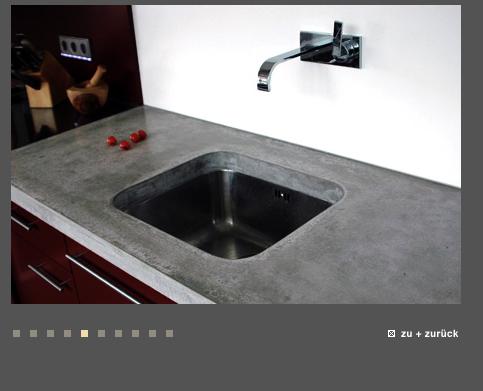 Arbeitsplatte granit, beton, holz oder marmor ...