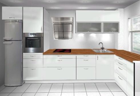 Küchenplanung kleine Küche (400x170) | Küchenausstattung ...