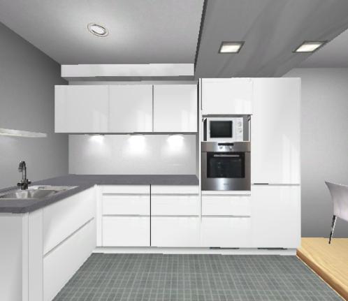 Küchenplanung offene Küche 3,00 x 3,175 m ...