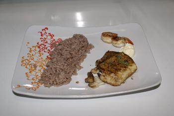Kabeljau mit Reis