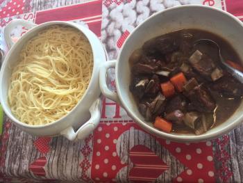 Ragout mit Spaghetti