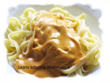 Leans schnelle Nudelsauce