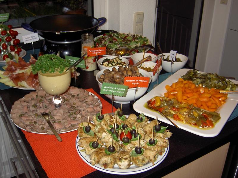 Italienisches Weihnachtsmenü Rezepte.Italienisches Buffet Für 45 Personen Weihnachtsmenü 2007 Fotoalbum