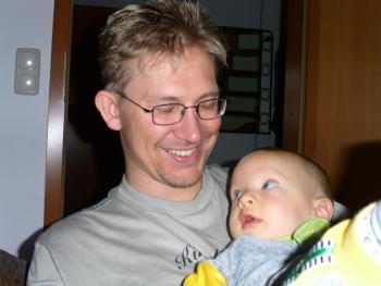 Mein Mann Thorsten und Chris Leandro im Juni 2003