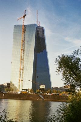 die EZB im Bau