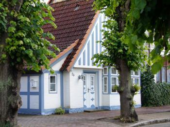 Haus in Arnis, der kleinsten Stadt Deutschlands