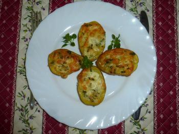 Blechkartoffeln mt Basilikumhaube