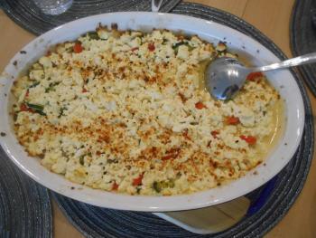 Zucchini-Hackfleisch-Auflauf mit Feta