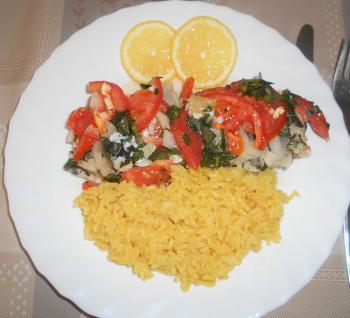 Ofenfisch mit Tomaten und frischen Kräutern