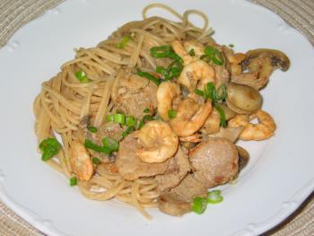 Spaghetti con carne e scampi von rivergirl