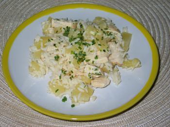 Reissalat mit Ananas und Hühnchen von angelika2603