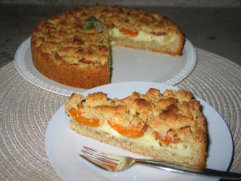 Aprikosenkuchen mit Haselnuss-Streuseln von forthebluehearts