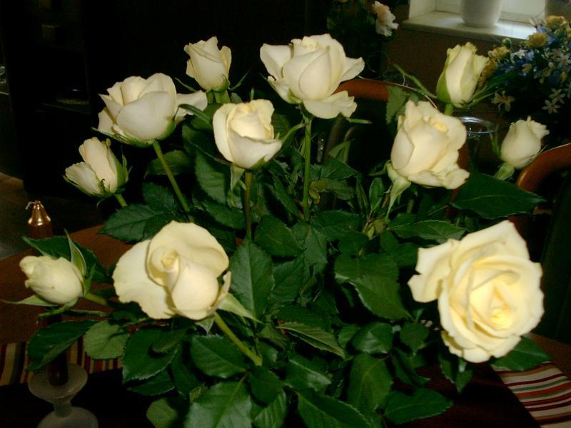 Erdbeer Joghurt Torte Sonnenuhr Weisse Rosen Orange Rosen