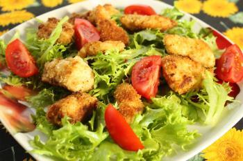 Backhendl-Salat