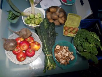 Inhalt meines Gemüseabos vom 2. Feb
