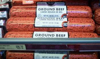 Hackfleisch - etwas größere Packungen als bei uns