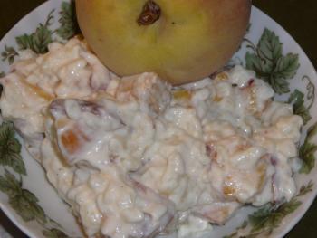 Vanillerisotto mit Pfirsichen