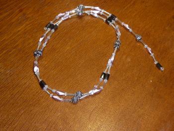 Magnetperlenkette altrosa-silber IV
