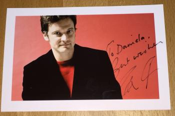Colin Firth Autogramm