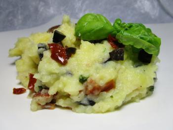 Kartoffelpüree mit Oliven