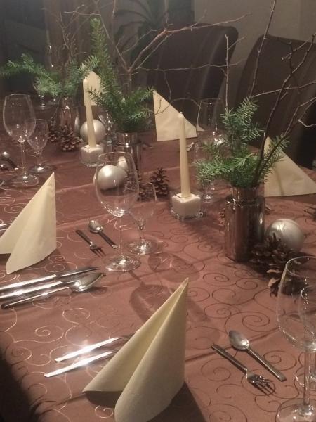 Vorweihnachtlich Gedeckter Tisch 4 Gänge Fotoalbum Kochen