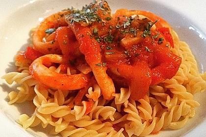 Tintenfische mit Tomaten 2