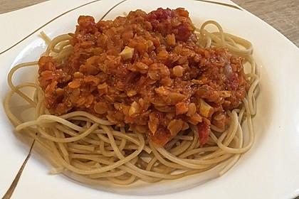 Spagettisauce mit roten Linsen (Bild)