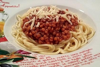 Spagettisauce mit roten Linsen 3