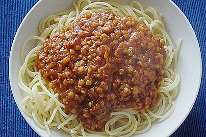 Spagettisauce mit roten Linsen 10