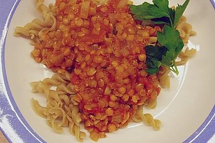 Spagettisauce mit roten Linsen 20