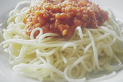 Spagettisauce mit roten Linsen 18