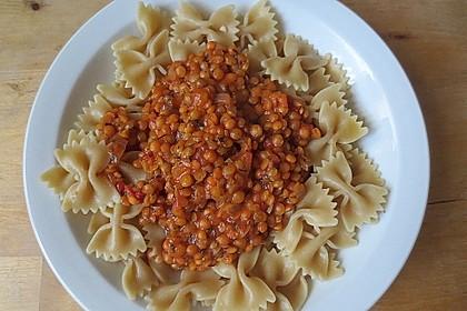 Spagettisauce mit roten Linsen 9