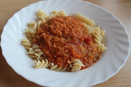 Spagettisauce mit roten Linsen 12