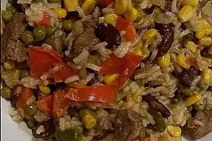 Reis-Fleisch-Pfanne