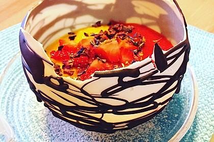 Panna cotta mit Erdbeersauce 10