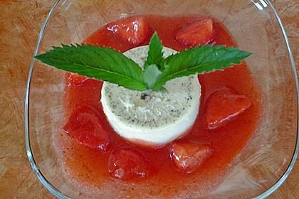 Panna cotta mit Erdbeersauce 96