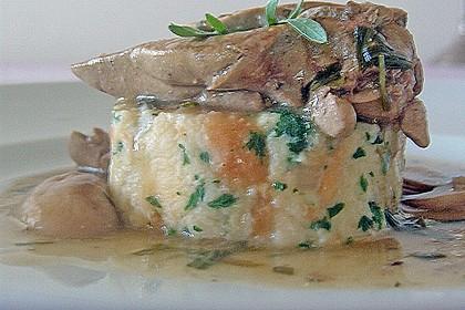 Hähnchenleber mit Champignons in Weinsauce 12