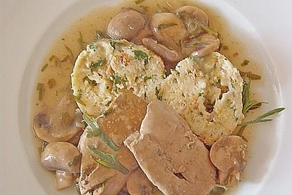 Hähnchenleber mit Champignons in Weinsauce 10