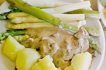 Spargel mit Schweinefilet und Pilzsauce 14