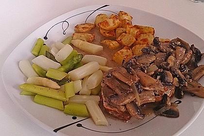 Spargel mit Schweinefilet und Pilzsauce 6