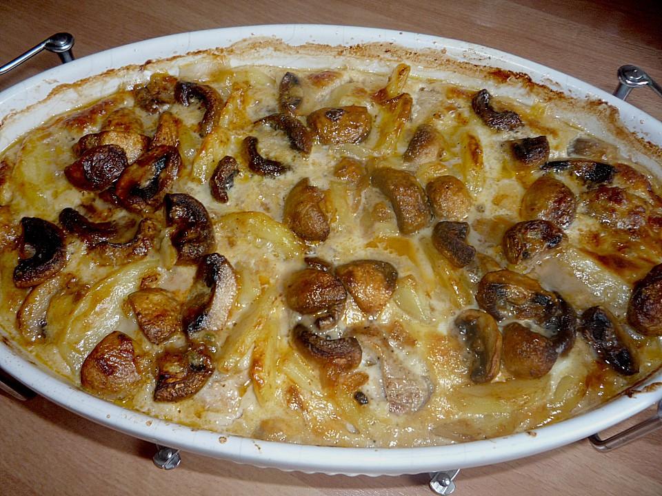 Kartoffel Pilz Gratin Mit Filet Von Henriettinchen Chefkoch