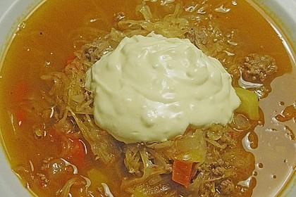 Hackfleisch-Sauerkraut-Eintopf mit Knoblauch 1