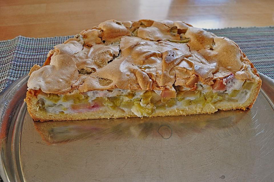 Rhabarber Baiser Kuchen Von Hilda Chefkoch De
