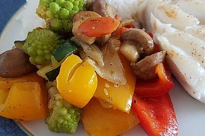 Südländische Gemüsepfanne (Bild)
