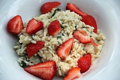 Brennesselrissotto mit Erdbeeren 1