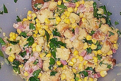 Mais- und Speckfüllung für gefüllten Truthahn (Bild)